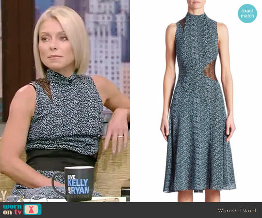 Silk Asymmetric Dress by Proenza Schouler worn by Kelly Ripa on Live with Kelly & Ryan