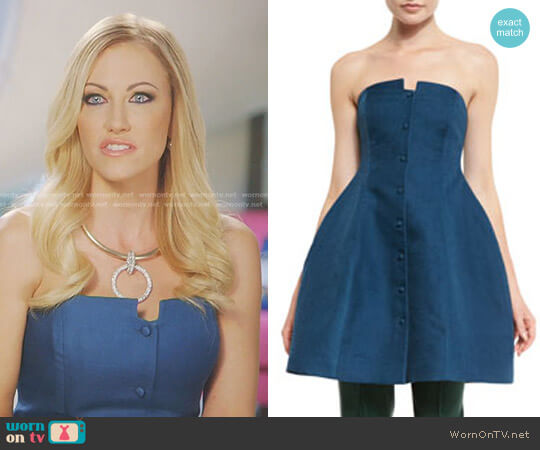 Strapless A-Line Dress by Rosie Assoulin worn by Stephanie Hollman  on The Real Housewives of Dallas