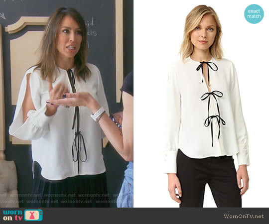 Meryl Blouse by Rachel Comey worn by Kelly Dodd on The Real Housewives of Orange County