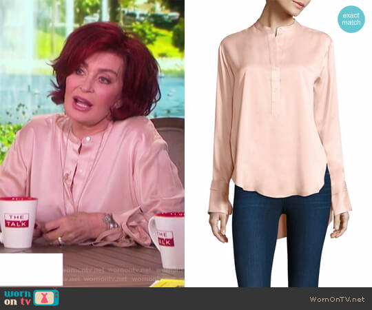 Dylan Tie-Cuff Silk Blouse by Rag & Bone worn by Sharon Osbourne on The Talk