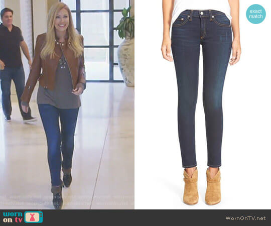 Skinny Stretch Jeans by Rag & Bone worn by Stephanie Hollman  on The Real Housewives of Dallas