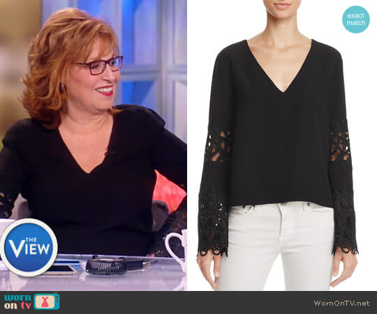 Lace Bell Sleeve Top by Ramy Brook worn by Joy Behar on The View