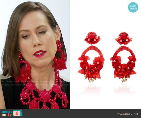 Ranjana Khan Posie Statement Earrings worn by Miriam Shor on Younger