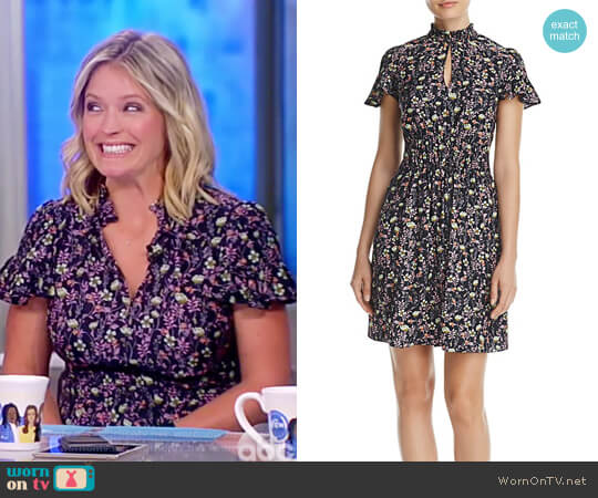 Floral Silk Dress by Rebecca Taylor worn by Sara Haines  on The View