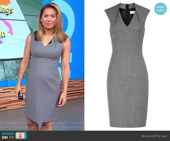 'Austin' Tailored Dress by Reiss worn by Ginger Zee on Good Morning America