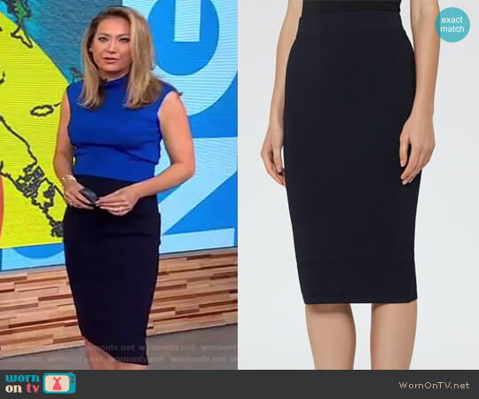 Reiss 'Guardian' Knitted Pencil Skirt worn by Ginger Zee  on Good Morning America