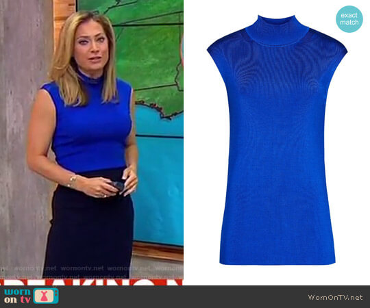 Reiss 'Gwen' High Neck Knitted Top worn by Ginger Zee  on Good Morning America