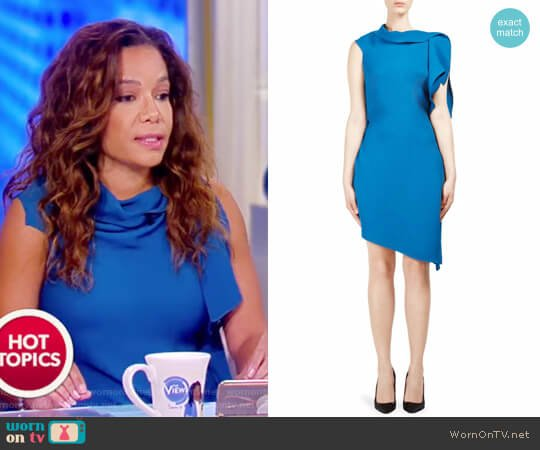 Arundel Asymmetric Dress by Roland Mouret worn by Sunny Hostin on The View