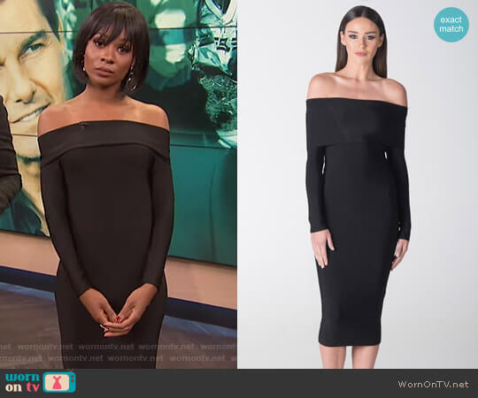 'Sienna' Off The Shoulder Dress by Santina Nicole worn by Zuri Hall  on E! News