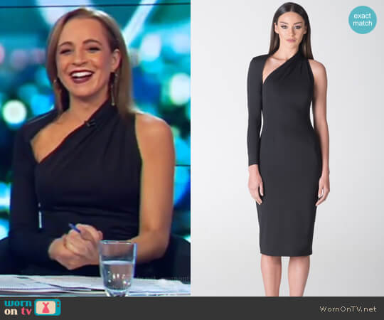 Sienna One Shoulder Dress by Santina Nicole worn by Carrie Bickmore on The Project