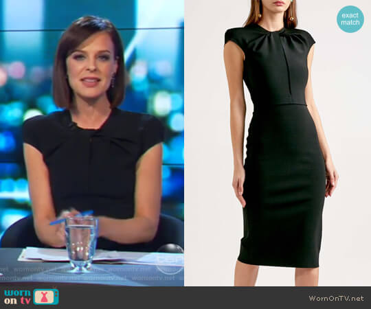 Milano Crepe Dress by Scanlan Theodore worn by Natarsha Belling on The Project