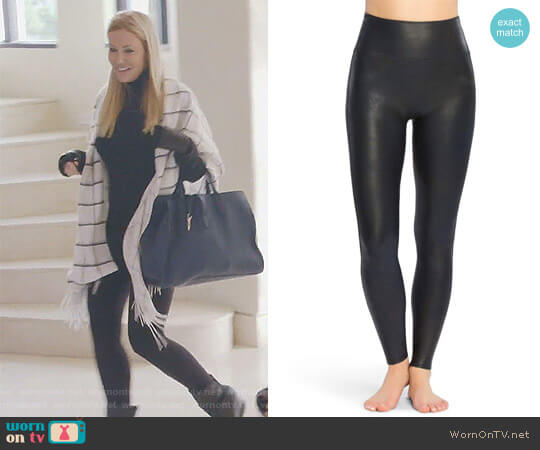 Faux Leather Leggings by Spanx worn by Stephanie Hollman  on The Real Housewives of Dallas