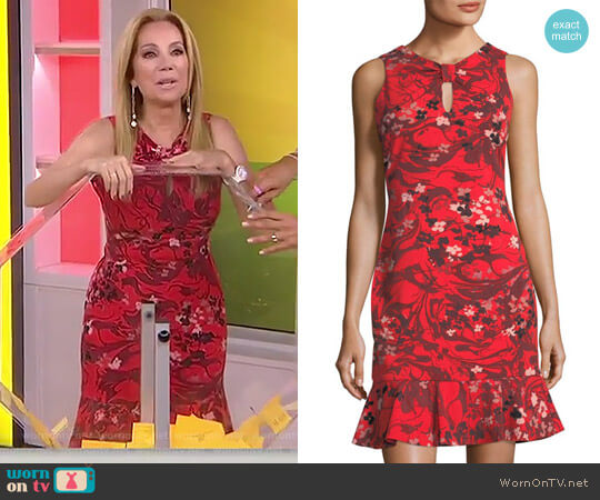 Knot-Front Scuba Dress by Taylor Dresses worn by Kathie Lee Gifford on Today