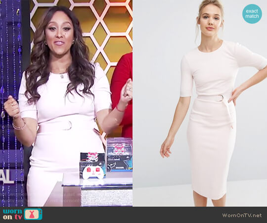 Ted Baker Wandee Dress worn by Tamera Mowry on The Real