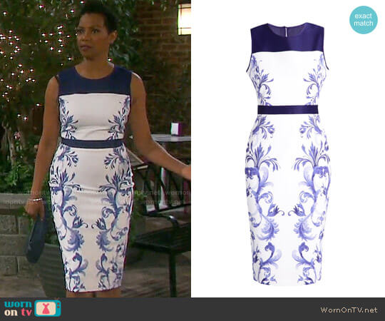 Ted Baker Ritah Dress worn by Vanessa Williams on Days of our Lives