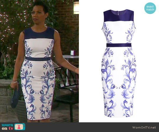 Ted Baker Ritah Dress worn by Valerie Grant (Vanessa Williams) on Days of our Lives