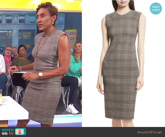 Hadfield B Power Sheath Dress by Theory worn by Robin Roberts on Good Morning America