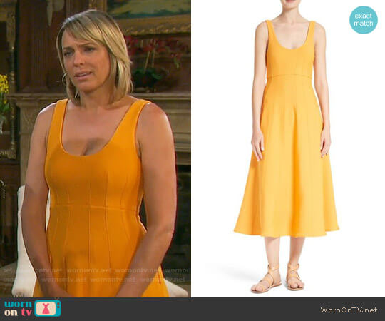 Tibi Corset Structured Midi Dress worn by Nicole Walker (Arianne Zucker) on Days of our Lives