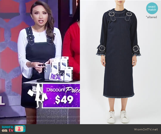Buckle Pinafore Dress by Boutique worn by Jeannie Mai on The Real