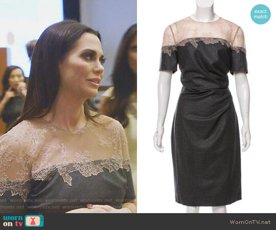 Lace Trim Wool Dress by Valentino worn by D'Andra Simmons  on The Real Housewives of Dallas