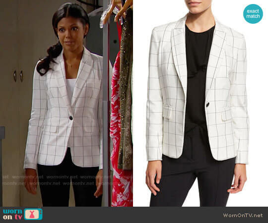 Veronica Beard Clubhouse Cutaway Jacket worn by Karla Mosley on The Bold & the Beautiful