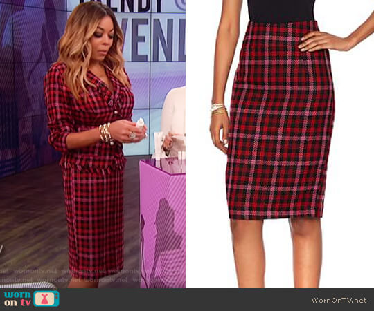 Boucle Pencil Skirt by HSN by Wendy Williams HSN Collection worn by Wendy Williams on The Wendy Williams Show