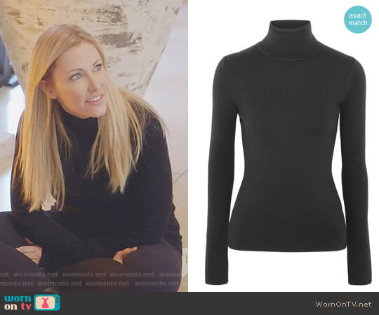 Wool-Blend Turtleneck Sweater by Gabriela Hearst worn by Stephanie Hollman  on The Real Housewives of Dallas