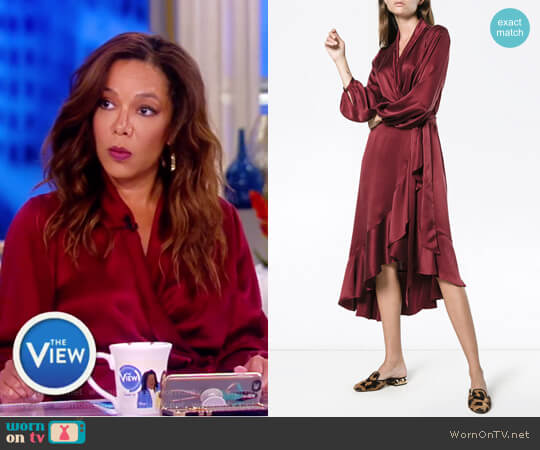 Silk Wrap Dress with Ruffle Detail by Zimmermann worn by Sunny Hostin  on The View