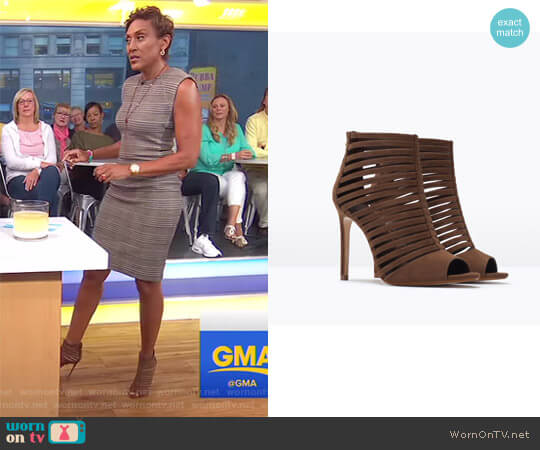 Multi-strap High Heel Sandal by Zara worn by Robin Roberts on Good Morning America