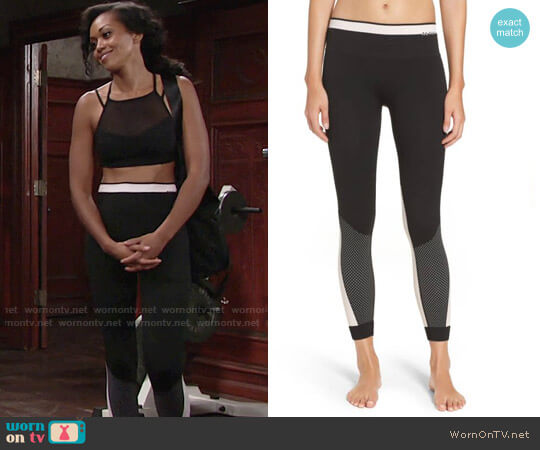 ALALA Ace Performance Tights worn by Hilary Curtis (Mishael Morgan) on The Young & the Restless