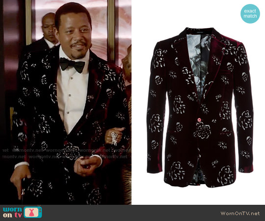 Alexander McQueen Floral Velvet Blazer worn by Lucious Lyon (Terrence Howard) on Empire
