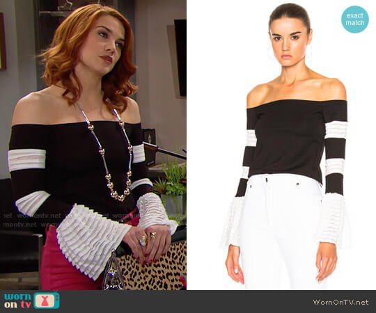 Alexis Gryffin Top worn by Sally Spectra (Courtney Hope) on The Bold & the Beautiful