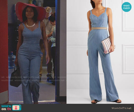 Alice + Olivia Cristal Jumpsuit worn by Gabrielle Union on Being Mary Jane