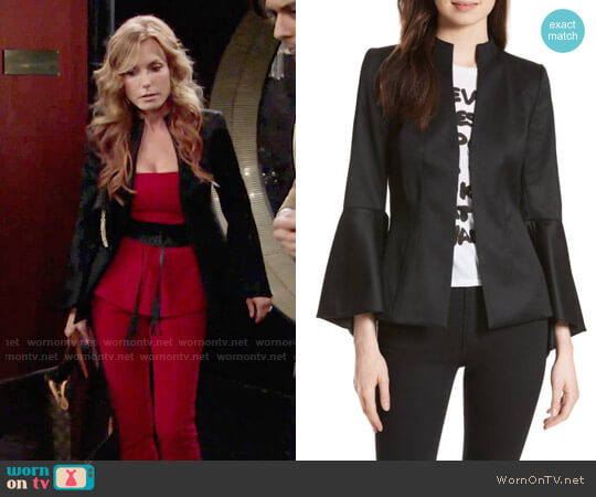 Alice + Olivia Ivana Jacket worn by Tracey Bregman on The Young & the Restless