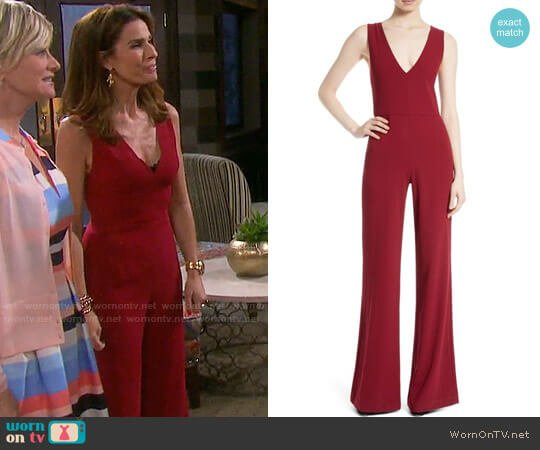 Alice + Olivia Lina Jumpsuit worn by Kristian Alfonso on Days of our Lives