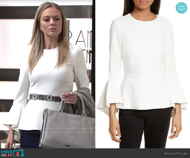 Alice + Olivia Ruby Top worn by Abby Newman (Melissa Ordway) on The Young & the Restless
