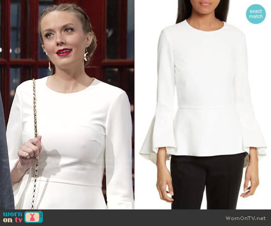 Alice + Olivia Ruby Top worn by Melissa Ordway on The Young & the Restless
