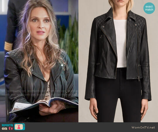 All Saints Cargo Biker Jacket worn by Phoebe Wells (Beau Garrett) on GG2D