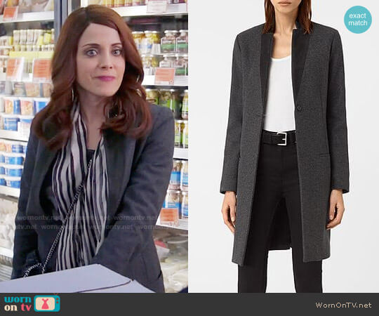 All Saints Leni Coat worn by Alanna Ubach on GG2D
