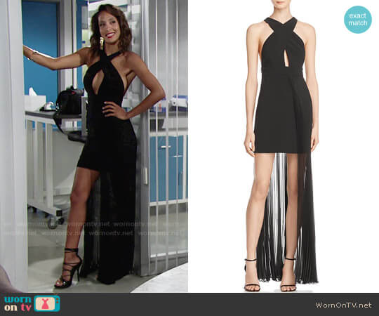 AQ/AQ Ailla Dress worn by Christel Khalil on The Young & the Restless
