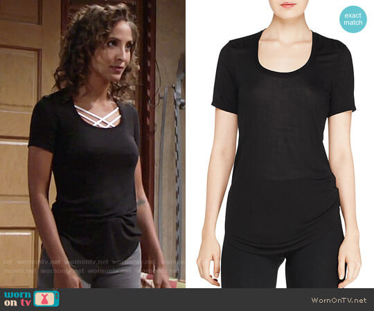 ATM Anthony Thomas MelilloShort Sleeve Sweetheart Tee  worn by Christel Khalil on The Young & the Restless