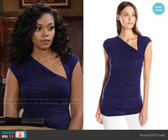 Bailey 44 Blaze Top worn by Hilary Curtis (Mishael Morgan) on The Young & the Restless