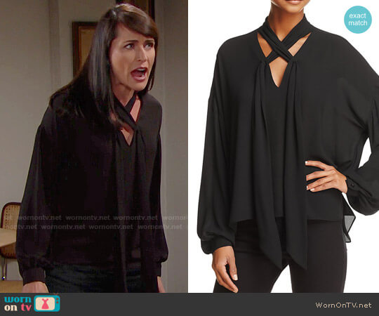 Bailey 44 Queen Sophia Shirt worn by Quinn Fuller (Rena Sofer) on The Bold & the Beautiful
