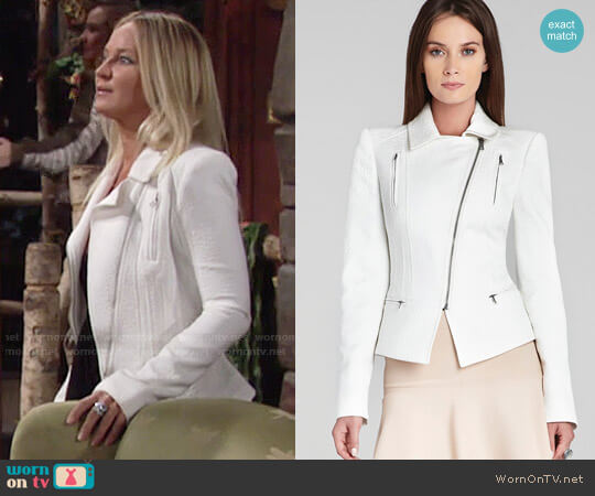 Bcbgmaxazria Boe Jacket worn by Sharon Case on The Young & the Restless