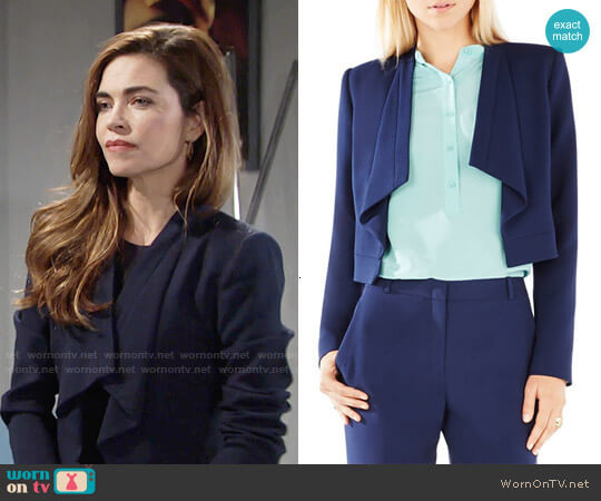 Bcbgmaxazria Franco Jacket worn by Amelia Heinle on The Young & the Restless