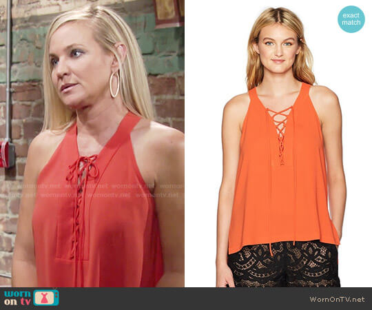 Bcbgmaxazria Lana Top worn by Sharon Case on The Young & the Restless