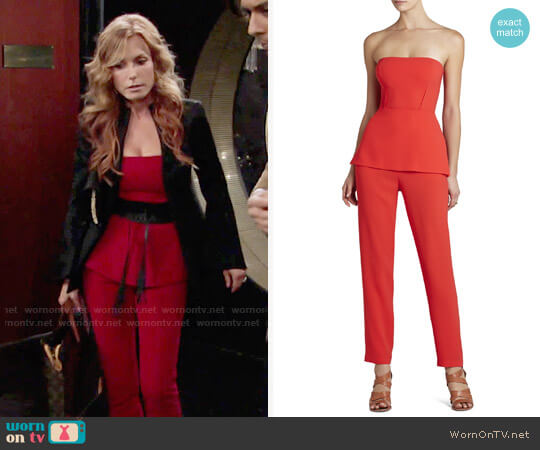 Bcbgmaxazria Simone Jumpsuit worn by Tracey Bregman on The Young & the Restless