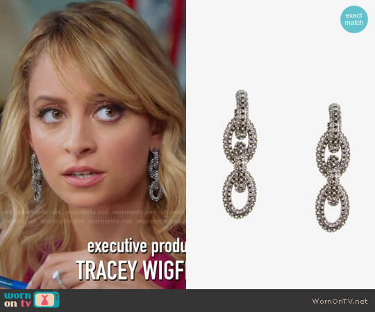 Bcbgmaxazria Pave Chain-Link Earrings worn by Nicole Richie on Great News