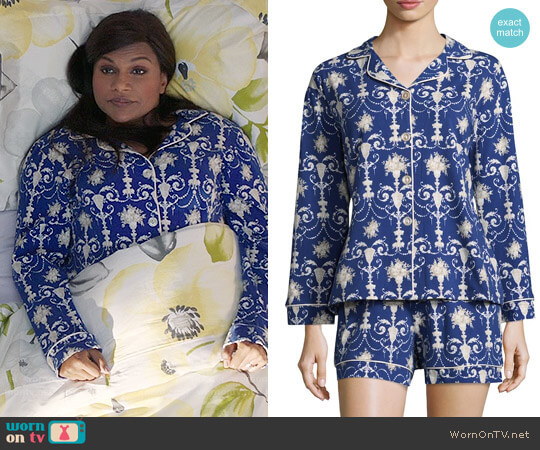 BedHead Damask Print Pajamas worn by Mindy Kaling on The Mindy Project