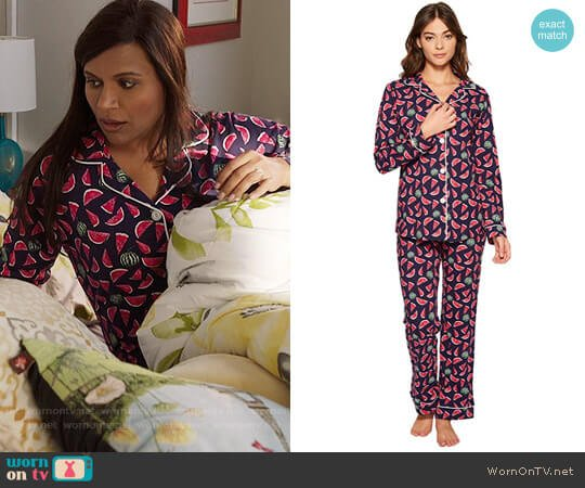 BedHead Taste Of Summer Print Pajamas worn by Mindy Lahiri (Mindy Kaling) on The Mindy Project